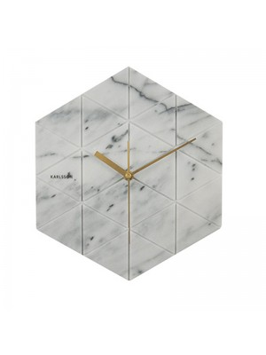 Karlsson Klok Marble Hexagon